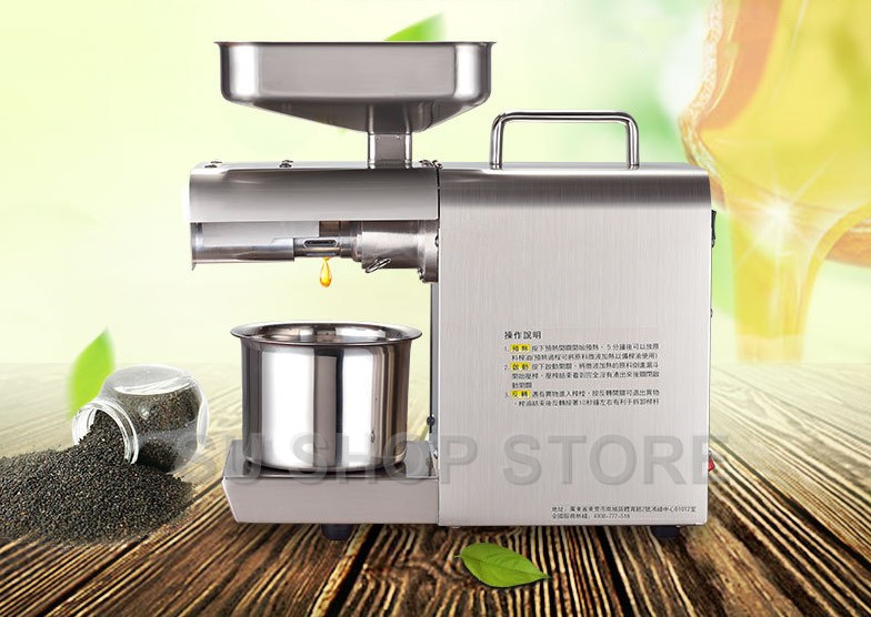 Heat and Cold home oil press machine pinenut, cocoa soy bean olive oil press machine high oil extraction rate 220v hot and cold home oil press machine peanut soy bean cocoa oil press machine high oil extraction rate zyj 02