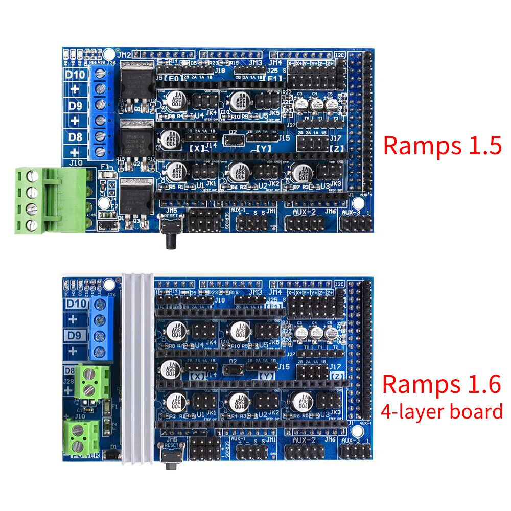 Bigtreetech Upgrade Ramps 1.5 Ramps 1.6 Base On Ramps 1.4 Control Panel Fit A4988 DRV8825 TMC2130 Reprap For 3D Printer Parts