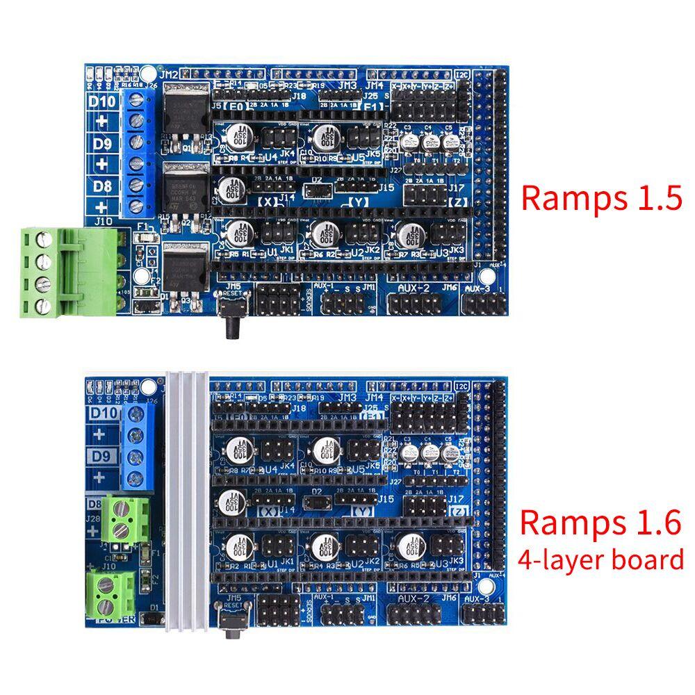 все цены на Bigtreetech Upgrade Ramps 1.5 Ramps 1.6 Base on Ramps 1.4 Control Panel Fit A4988 DRV8825 TMC2130 Reprap For 3D Printer Parts онлайн