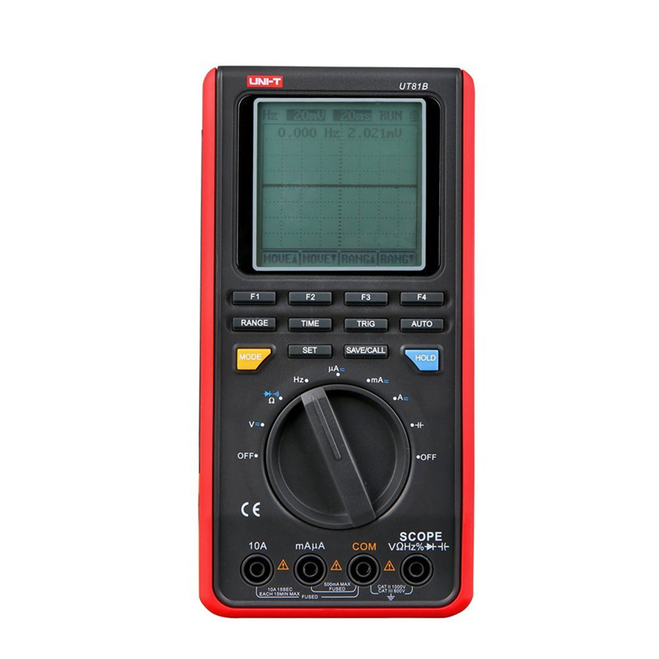 UNI-T UT81B Handheld LCD Scopemeters Oscilloscope 8MHz 40MS/s Real-Time Sample Rate Digital Multimeters With USB Interface uni t ut81b handheld digital multimeter oscilloscope 8 mhz scope 40ms s oscilloscope scopemeter register shipping