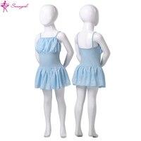 бесплатная доставка! ребенок камеры Ballet пара с шифоновая юбка, балет уголь для детей; балет костюм для girlscs0297