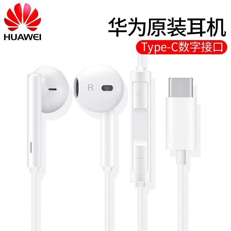 Натуральная Huawei CM33 Тип C USB-C наушники высокого разрешения аудио наушники с микрофоном управление гарнитуры для P40 P20 Pro Mate 10 Pro 20Pro 20RS Honor 20s