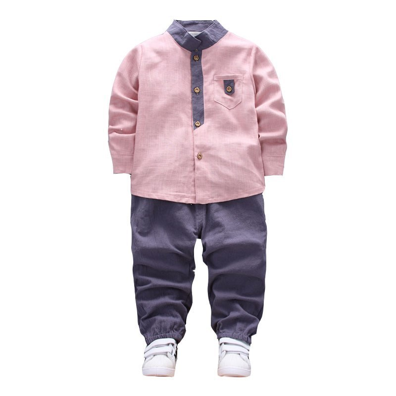 2018 New Baby Clothing Spring Autumn Kids Long Sleeve Casual Sports Suits Collar shirt Pants 2pcs Boys Sets Clothes For 0-4Years