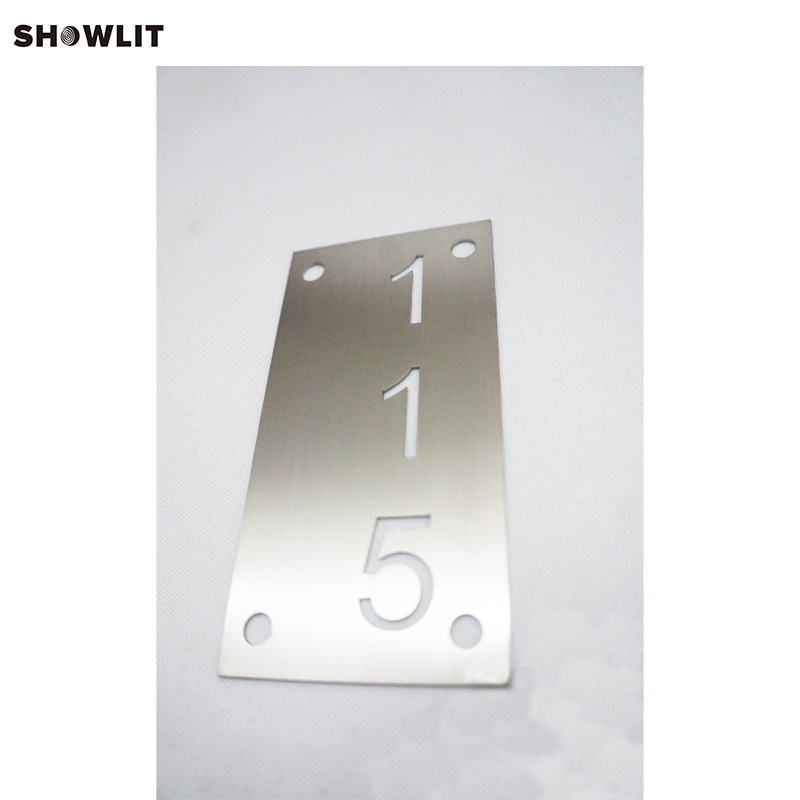 SIiver Brushed 304 Stainless Steel House Number Door Sign PlaqueSIiver Brushed 304 Stainless Steel House Number Door Sign Plaque