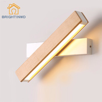 BRIGHTINWD LED Wall Lamp Modern Minimalist Creativity Bedroom Bedside Aisle Wall Lamp Reading Log Rotating 360 Degree Rotation