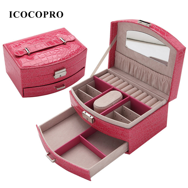 ICOCOPRO Jewelry Box Travel Jewelry Packaging Display Watch