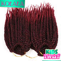 Black BUG Ombre 10'' 24 strands Synthetic Senegalese Twist Braiding Hair Extensions Havana Mambo Crochet Twist Braids for Kids