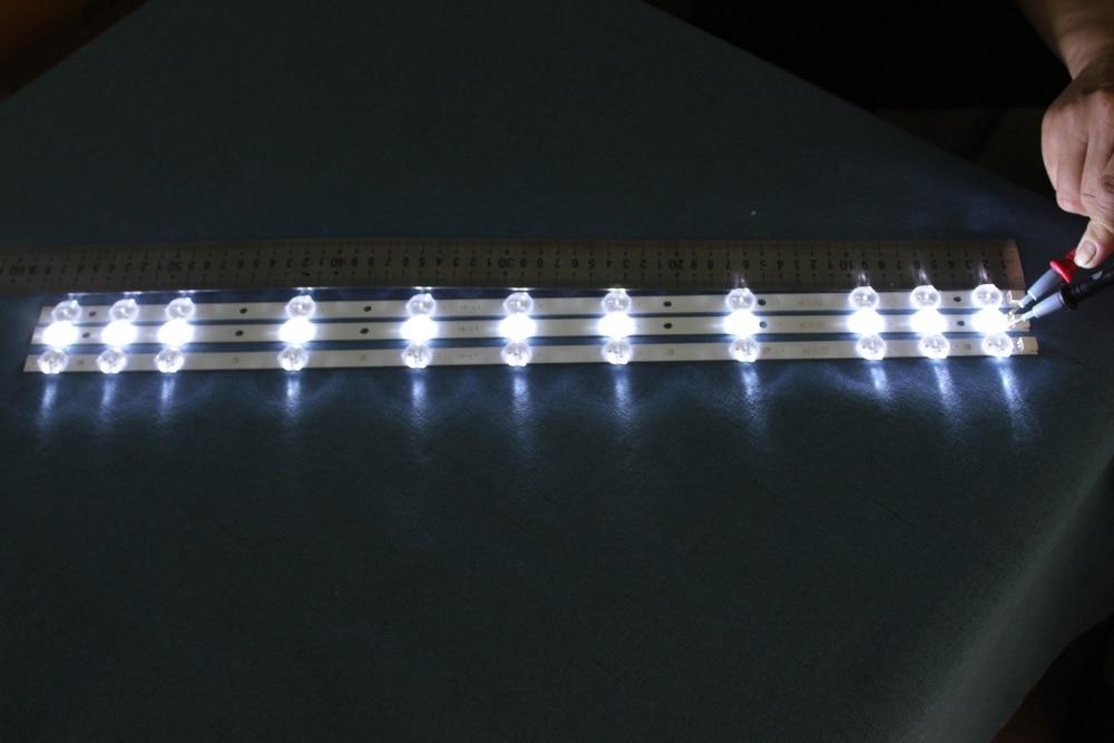 4piece lot  FOR  BARRE LED REV0 2 TIS-4A 94V-0 1612 VES315WNDA-01 TOSHIBA NEO TELEFUNKEN   11LED  574MM