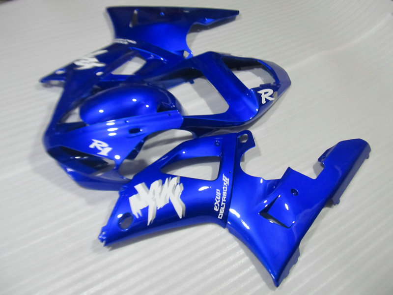 Motorcycle fairing kit for yamaha yzfr1 00 01 yzf r1 2000 2001 yzf1000 yzfr 00 01 abs cool blue fairi