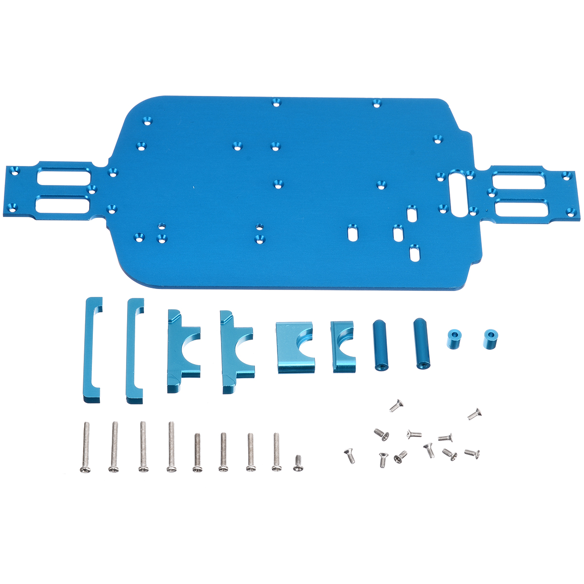 Image 4 - 1 Set High Speed Car Metal Chassis Upgrade Metal Chassis For Wltoys 1/18 A949 A959 B A969 A979 K929 RC Car-in Parts & Accessories from Toys & Hobbies