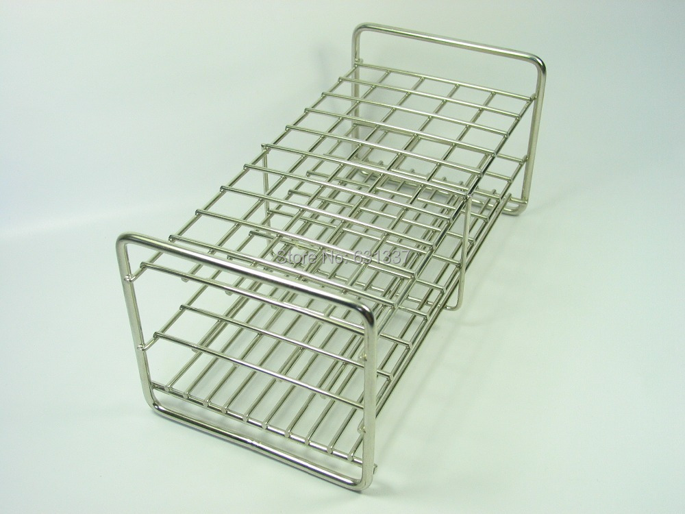 Stainless Steel Test Tube Rack 50 Holes X 20mm Diameter In