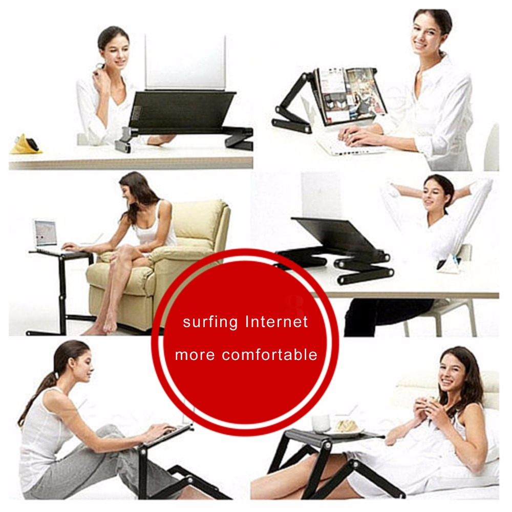 Portable folding laptop notebook table desk adjustable laptop stand - Aliexpress Com Buy Homdox Computer Desk Portable Adjustable Foldable Laptop Notebook Lap Pc Folding Desk Table Vented Stand Bed Tray N20 From Reliable