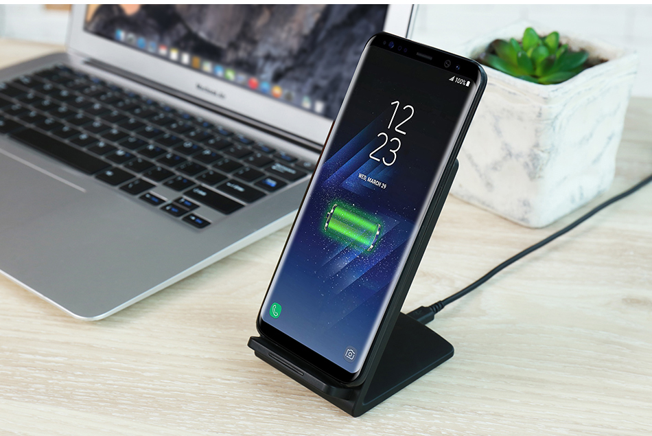 KISSCASE QI Wireless Charger Charging for Samsung Galaxy S7 Edge S8 Plus Phone Wireless USB Charger Adapter For Galaxy S8 Holder (12)