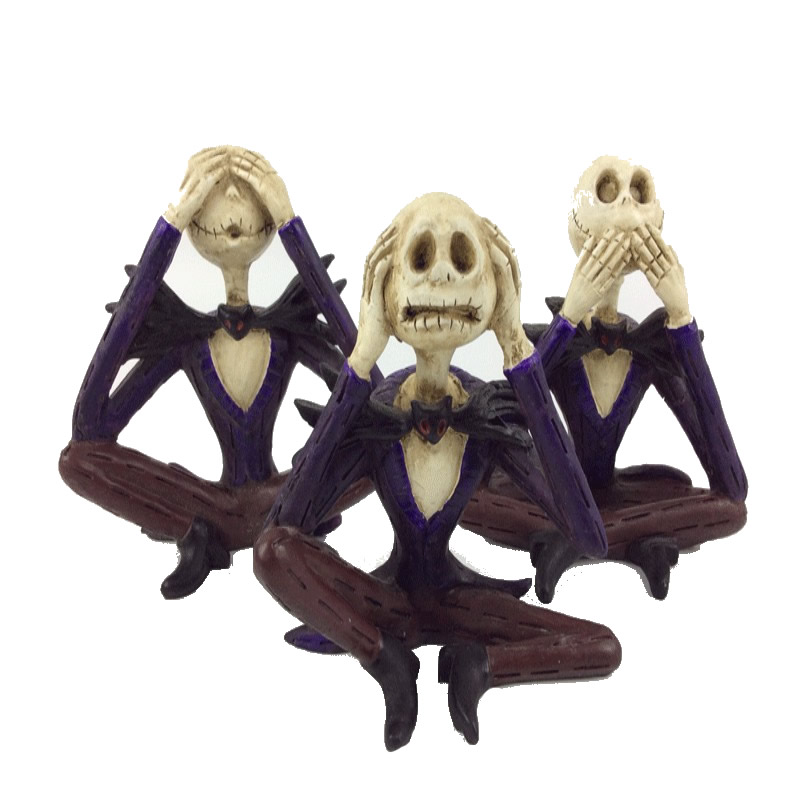 Creative Sitting Skull Statues Shut Up Figurine Home Office Desk Decor Halloween Party Scary Ornament Decoration StatueCreative Sitting Skull Statues Shut Up Figurine Home Office Desk Decor Halloween Party Scary Ornament Decoration Statue