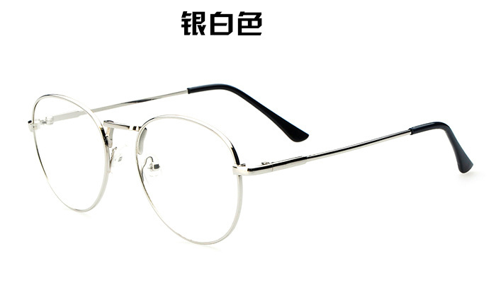 2065848ec75 The most popular new Europe gold mirror metal thin frame glasses round Ms.  fan art tide men glasses frame-in Eyewear Frames from Apparel Accessories  on ...
