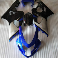 Motobike ABS Injection Fairing Kits For Suzuki GSX R600 GSX R750 K4 04 05 Suzuki 2004 2005 GSXR 750 600 K4 04 05 blue/black