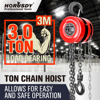 Block And Tackle Chain Block Hoist 3 Ton 3m Chain Lifting Pulley Tool BRAND NEW