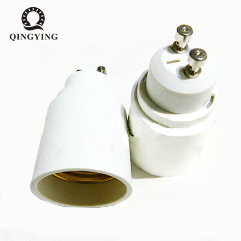 10pcs GU10 to E27 LED Light Bulb Adapter Lamp Holder GU10-E27 Converter Socket Light Bulb Lamp Holder Adapter Plug