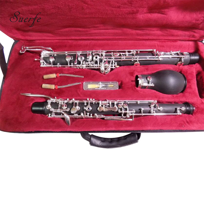 SUERTE High Quality Oboe F/C Key Semi Auto Bakelite/Ebony Wood English Horn with Foam Case Professional Wind Musical Instruments professional double french horn gold f bb keys cupronicekl tuning pipe with case