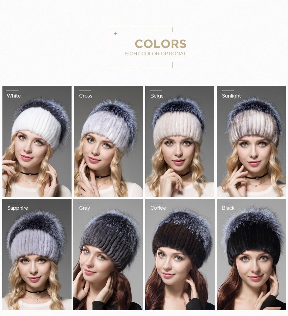 fur woman winter hats PCM012 (4)