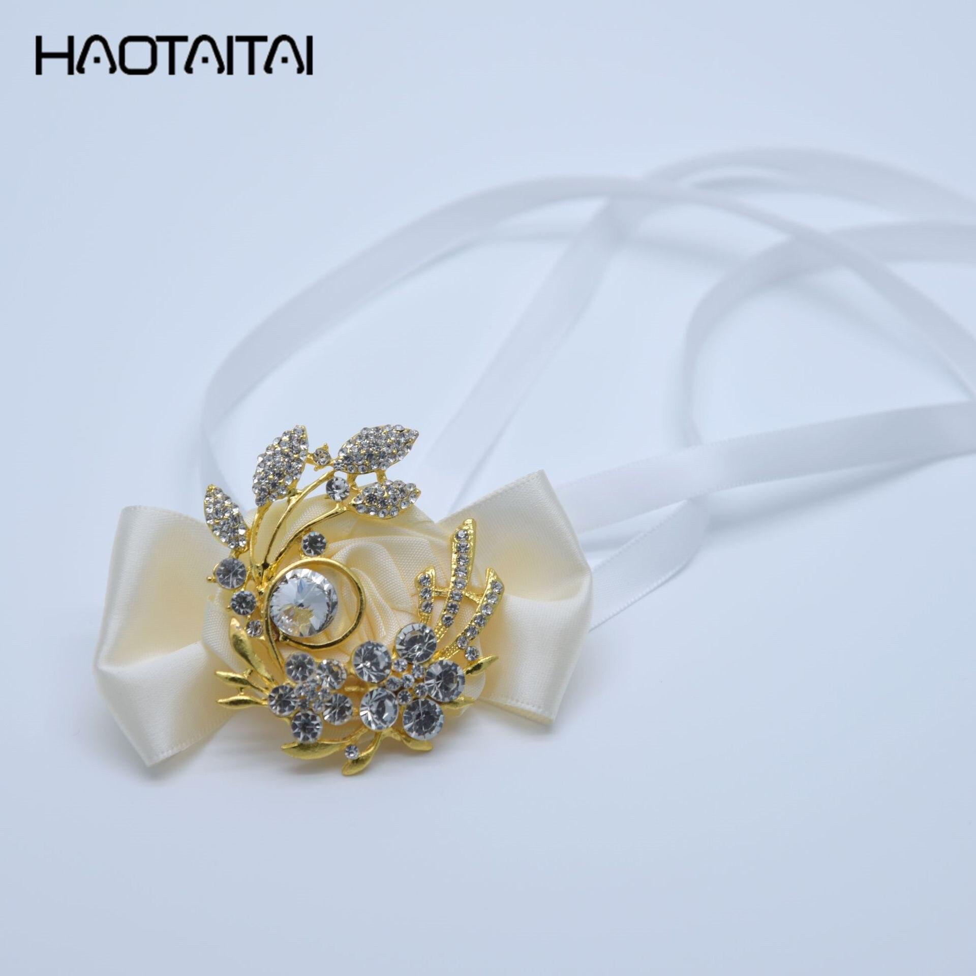 Wrist Corsages Silk Flower Bracelet Prom Hand Flowers Wedding Bride