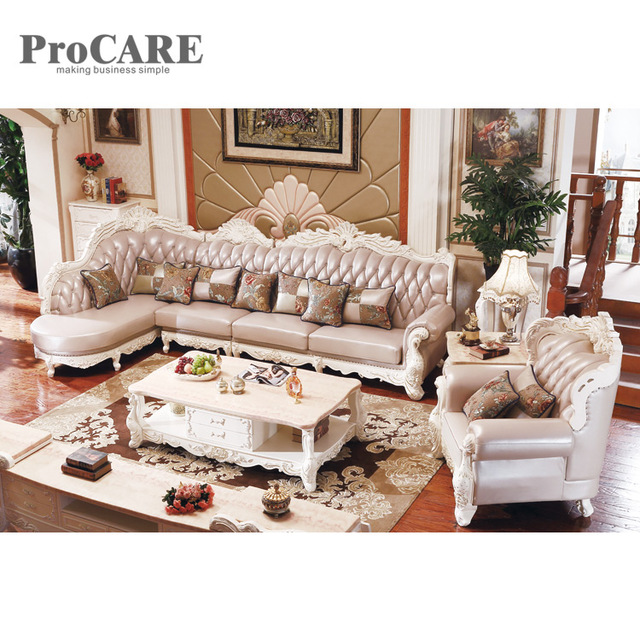 Modern italian style corner wooden sofa set designs A951B-in Living ...