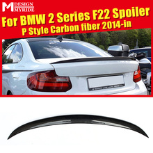 Rear Spoiler Tail P-Style For BMW 2 Series F22 220i 228i 235i Carbon Fiber Trunk Wing car styling 2014-in