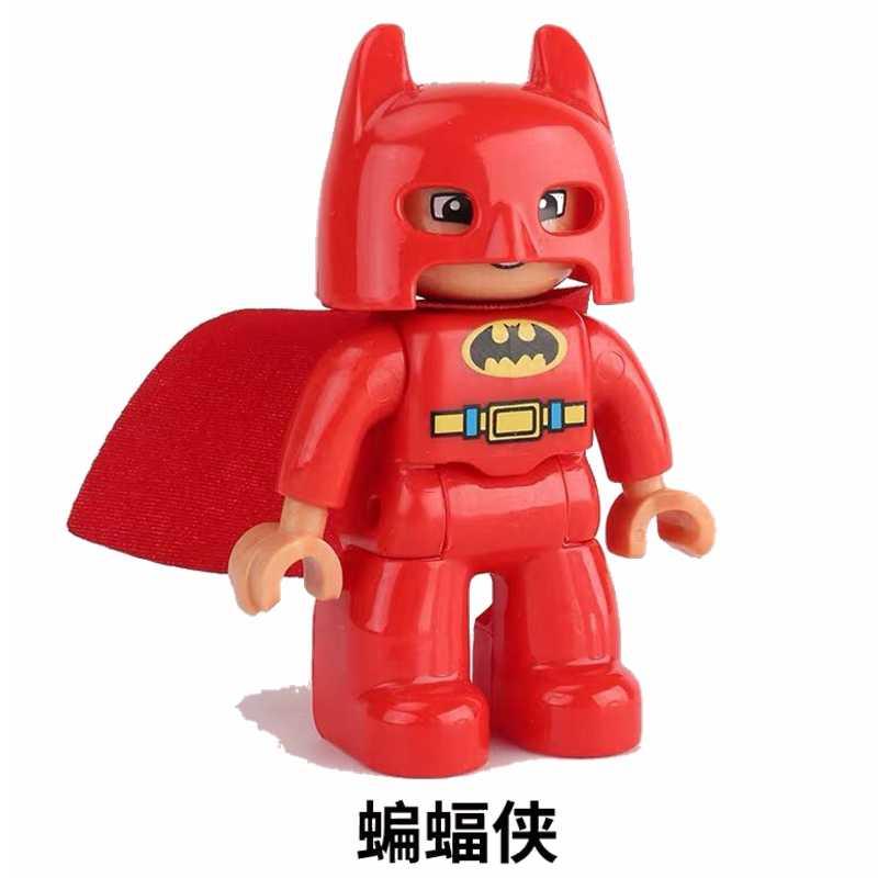 Legoing Бэтмен Duploe DC Лига Справедливости Супер Герои фигурки Бэтмена набор большие Кирпичи Строительные блоки игрушки для детей Legoings Duploed