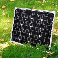 DOKIO 18V 12V 50W Monocrystalline solar panel set power board solar cell quality solar cell Solar panel Kits Charge for12V