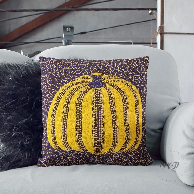 yayoi kusama artist dots pumpkin multi size throw pillow case cover
