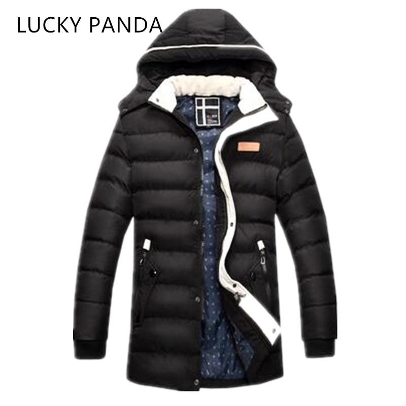 LUCKY PANDA 2016 MAN new winter clothes in the  long thick slim hooded jacket LKC007 lucky panda 2016 the new winter coat and female slim in the long and small lattice fragrant cotton lkp243