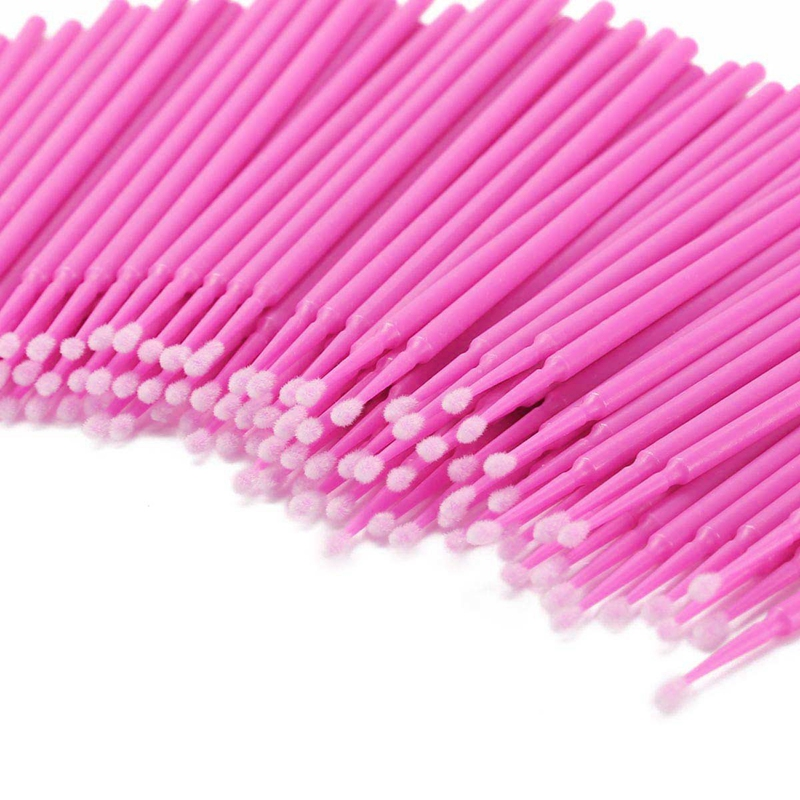 800 Pcs Disposable Micro-Brushes Applicator Mascara Wands For Eyelash Extensions 8 Color