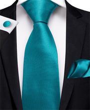 Лучший!  2019 DiBanGu Топ Синий Мужская Зажим для Галстука 100% Шелковый Галстук 150 см Длинный Галстук