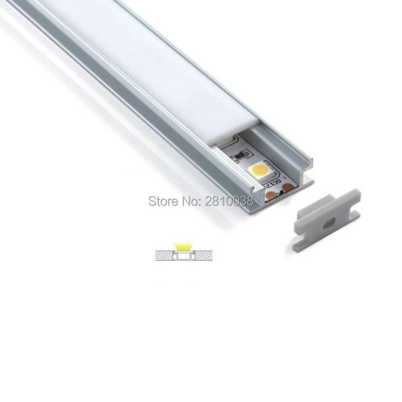 300X2 м комплектов/много Н тип алюминиевой led канала и без каблука я форма alu профиль для земли или пол свет