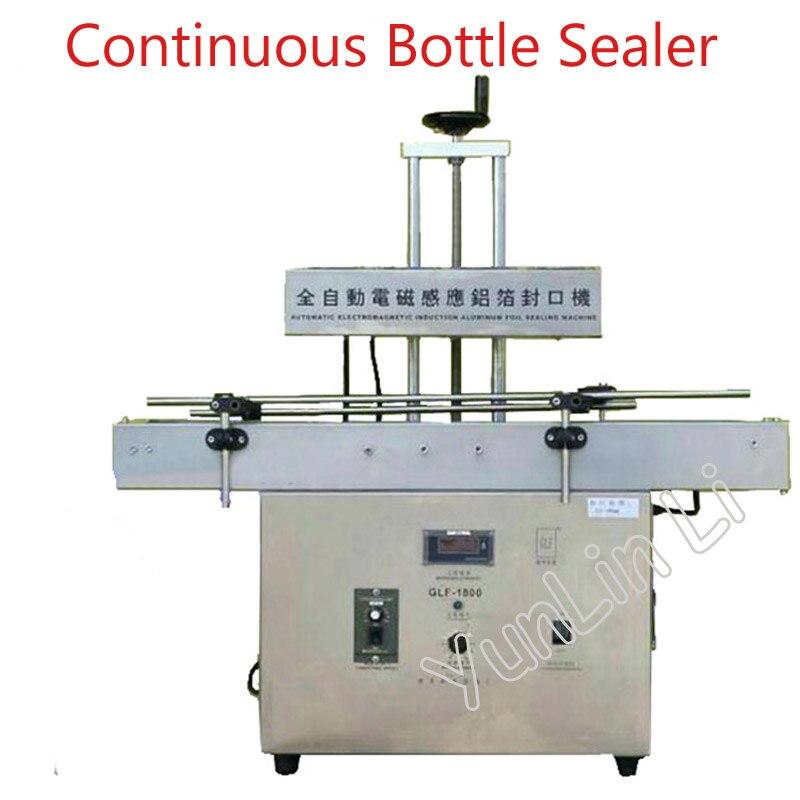 Автоматическое распознавание колпачок машины для запечатывания тары 50 120 мм Диаметр непрерывной бутылки герметик электромагнитная машина