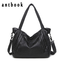 ANTBOOK Designer Handbags High Quality Pu Leather Women Shoulder Bags Large Capacity Women Messenger Crossbody Bags