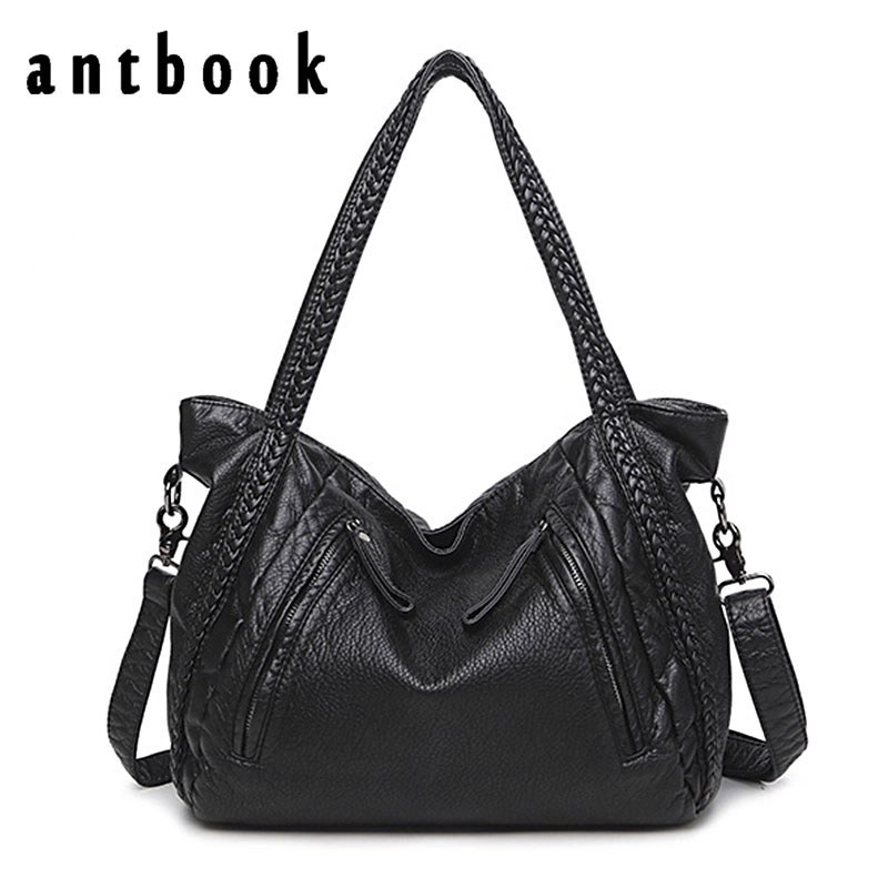 ANTBOOK Designer Handbags High Quality Pu Leather Women Shoulder Bags Large Capacity Women Messenger Crossbody Bags Bolsas fido dido designer handbags high quality nylon women shoulder bags large capacity women messenger crossbody bags