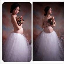 Фотосессия фантазии королевский белого фотографии реквизит беременность элегантный материнства беременных платья