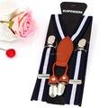Suspensórios bebê de couro crianças cintas Elásticas cintos bretelles 4 clips estudante suspensorio tirantes Largura 2.5 cm frete grátis