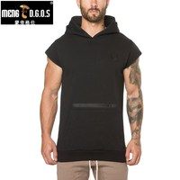 MENGD G O S New Mens Gyms Hoodie Sweatshirts Mens Hoodies Stringer Workout Bodybuilding Fitness Men