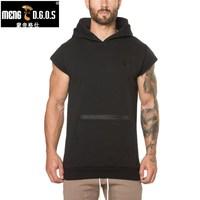 MENGD G O S New Mens Gyms Hoodie Sweatshirts Mens Hoodies Stringer Workout Bodybuilding Fitness Men