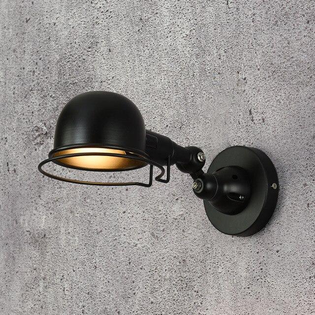 Loft industriel jielde mini Réglable rétro E14 LED Appliques Murales
