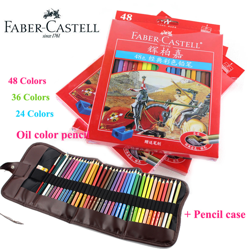 Faber Castell Colored Brand Lapis De Cor Professionals Artist Painting Oil Color Pencil Set For Drawing Sketch Art Supplies
