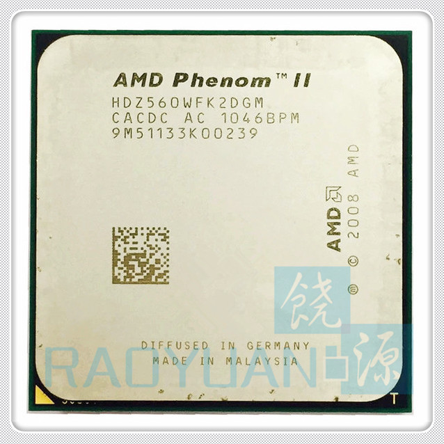 AMD Phenom II X2 560 3.3GHz Dual-Core CPU Processor X2-560 HDZ560WFK2DGM 80W Socket AM3 938pin
