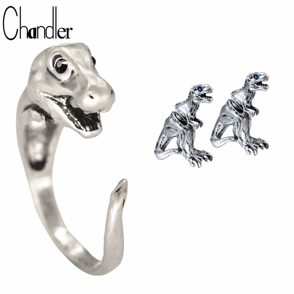 products dinosaur triceratops shape size around hug shiny us original ring wrap sizes to in silver shaped animal rings