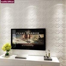 3d geometric pattern soft package wallpaper bedroom living room kids office waterproof anti-collision foam wall stickers