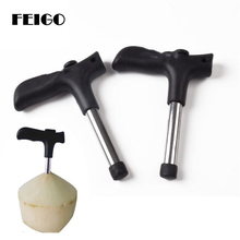 FEIGO Coconut Opening Tools-(Punch Tap) Knife Opener Raw Coco Water Juice Stainless Steel Makes Straw Hole F667