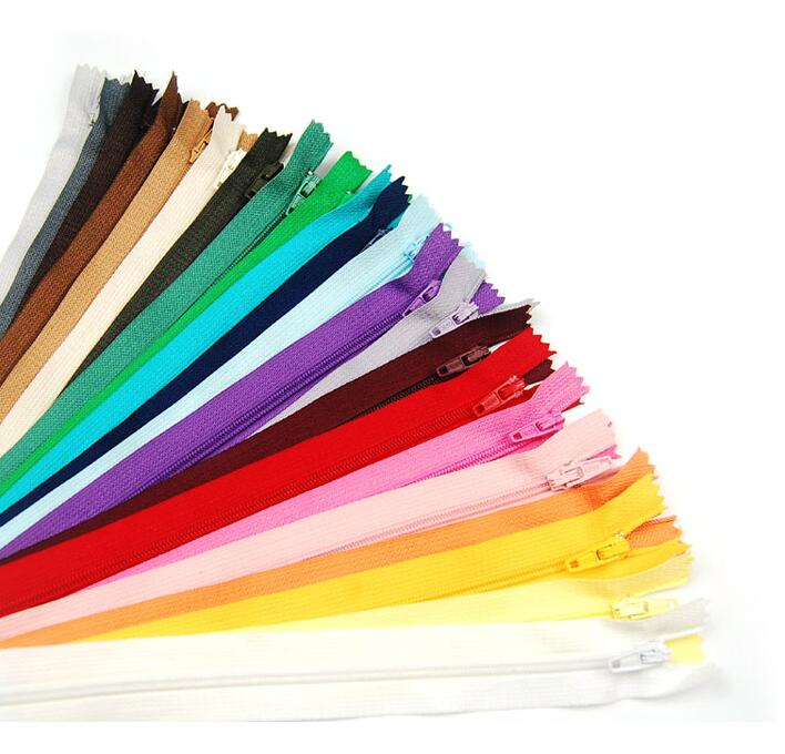 Suoja 100 Pcs Mix Color Nylon Coil Zippers Tailor Sewing Tools Garment Accessories 8 Inch