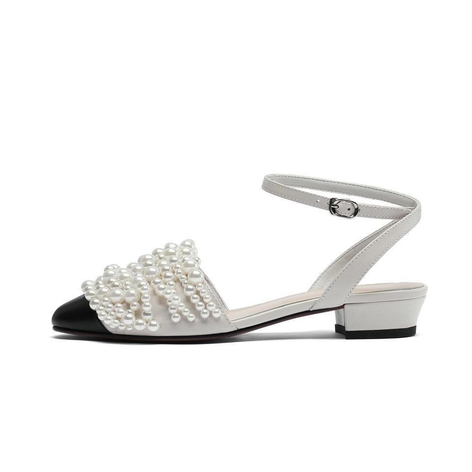 tze Eshtonshero Sandalen Kette Damen Plattform 8 Kn Abs Damen Schuhe Perle Gre Beige Damen chelriemen 3 Niedrige Slip On 0kwP8nOX