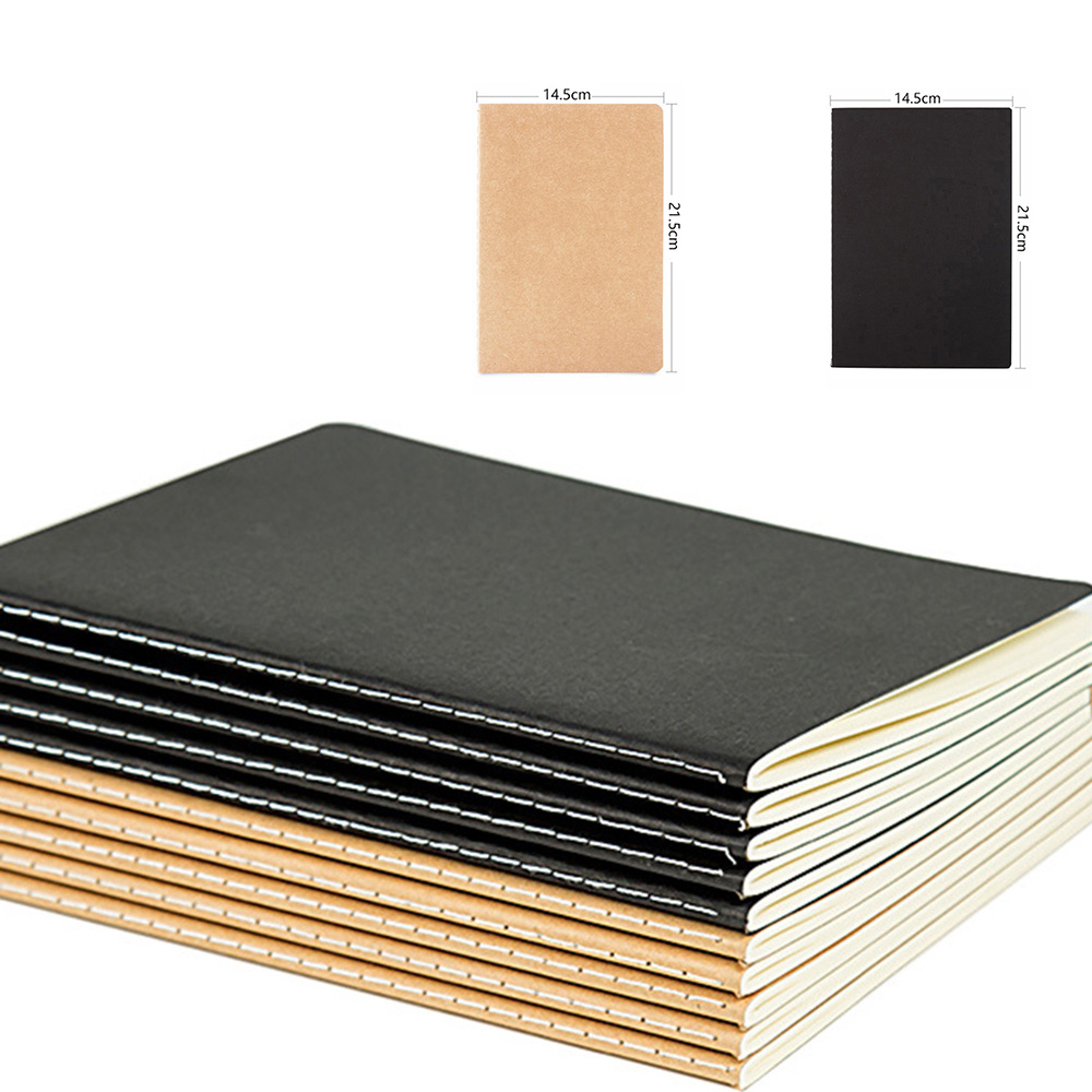 Hot Sale Creative A5 Kraft Paper Notebook Journal Diary Drawing Notepad For Students Kids Office School Supplies